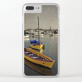 Yellow boats near Tavira, the Algarve, Portugal Clear iPhone Case