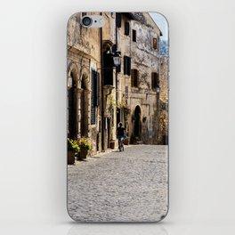 Alleyway in a top-hill medieval village iPhone Skin