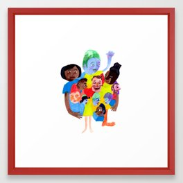 Wouldn't it be boring if we all looked the same? Framed Art Print