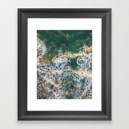 Lonely surfer, Italy, 2018 Framed Art Print