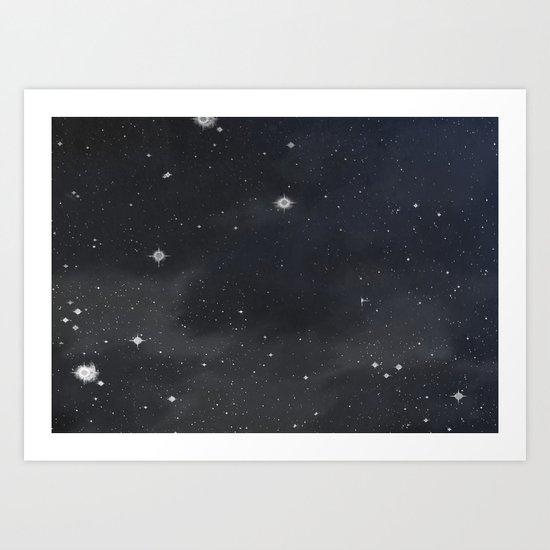 Sweet stars Art Print