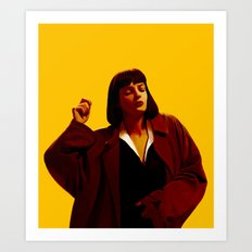 Mia Wallace - Yellow Art Print