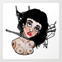 doll Art Prints featuring Doll by Julio César