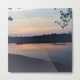 Summer Sunset in Black Rock, CT Metal Print