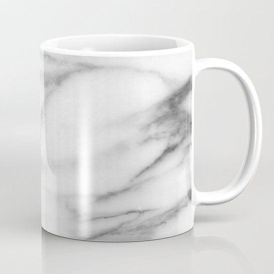 Pentelic grey marble coffee mug by marbleco society6 for Natural stone coffee mugs