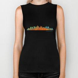 Philadelphia City Skyline Hq V1b Biker Tank