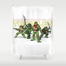 Philippine Revolutionary Ninja Turtles Shower Curtain