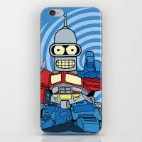 bender iPhone & iPod Skins featuring Optimus Bender by darko888