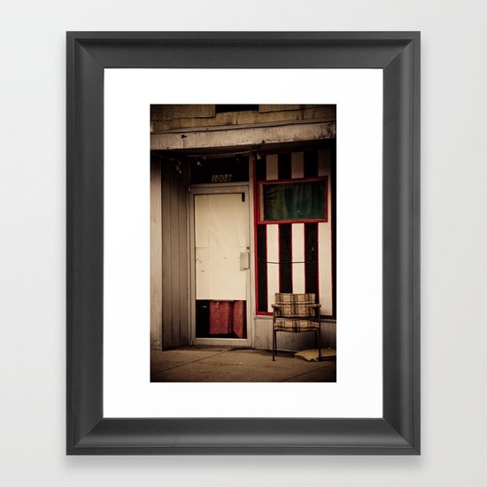 empty chair Framed Art Print