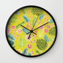 Botanical joy Wall Clock