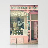 cafe Stationery Cards featuring Sweet Cafe by Cassia Beck
