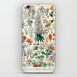 Adolphe Millot - Fleurs B - French vintage poster iPhone Skin
