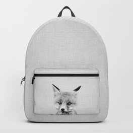Baby Fox - Black & White Backpack