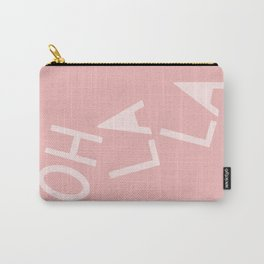 Oh La La French Pink Hand Lettering Carry-All Pouch