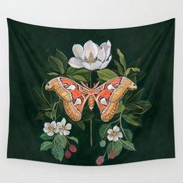 Atlas Moth Magnolia Wall Tapestry