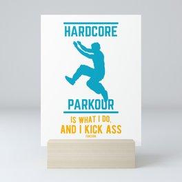 Parkour Free Running backflip somersault Mini Art Print