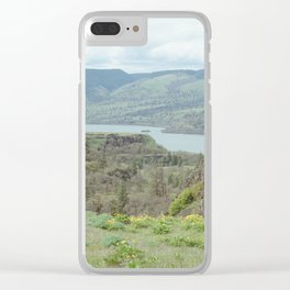 Tom McCall Preserve Looking Out at The Columbia River Gorge Clear iPhone Case