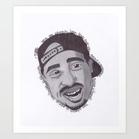 "tupac Art Prints featuring Tupac ''State Of Mind"" by SkilledCreativity"