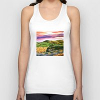 lord of the rings Tank Tops featuring Lord of the Rings Hobbiton by KS Art & Design