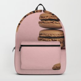 Macaroons on pink background Backpack