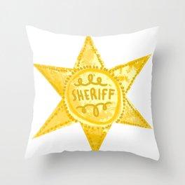 Sheriff! Throw Pillow