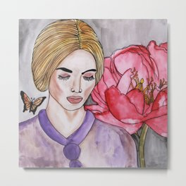 Flower And Me  Metal Print