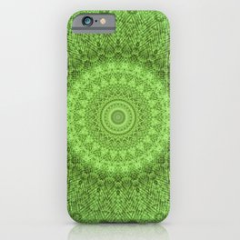 Sunflower Feather Bohemian Leaf Pattern \\ Aesthetic Vintage \\ Green Teal Aqua Color Scheme iPhone Case