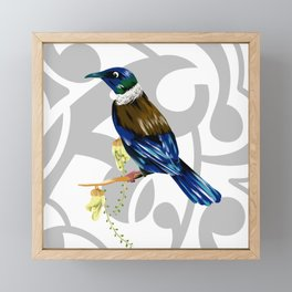 Tui New Zealand Bird Framed Mini Art Print