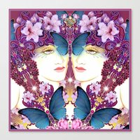 nouveau Canvas Prints featuring Nouveau by Kundalini Arts