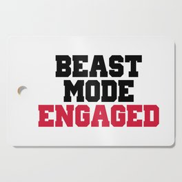 Beast Mode Engaged Gym Quote Cutting Board