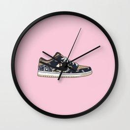 Travi$ Scott Dunk SB Low - Pink Wall Clock