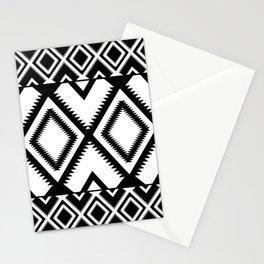 Lozenges Geometric Black Pattern Stationery Cards