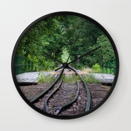 Forest Railroad Wall Clock