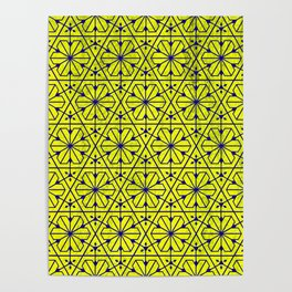V26 Moroccan Pattern Design Yellow Carpet Moroccan Texture. Poster