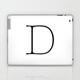 Letter D Typewriting Laptop & iPad Skin