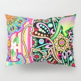 Mandalas, Cats & Flowers Fantasy Pattern Pillow Sham