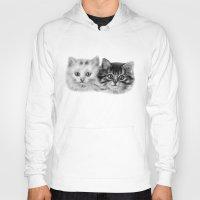 kittens Hoodies featuring Kittens by Danguole Serstinskaja