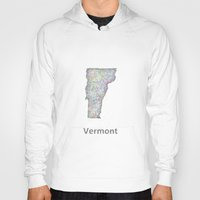 vermont Hoodies featuring Vermont map by David Zydd - Colorful Mandalas & Abstrac