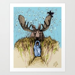 Moose Guide Art Print