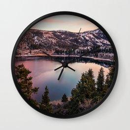 June Lake mountains Mono County sunset California USA America Wall Clock