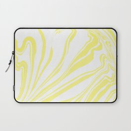 Yellow Marble Ink Watercolor Laptop Sleeve