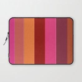 Modern girly pink fashion color block stripes Laptop Sleeve