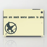 mockingjay iPad Cases featuring Mockingjay Quote by Thoughtless Ideas