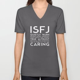 ISFJ (black version) Unisex V-Neck