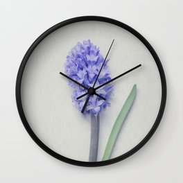 Lovely Bright Lilac Hyacinth Wall Clock