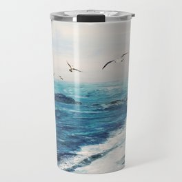 Watercolor Coast Travel Mug