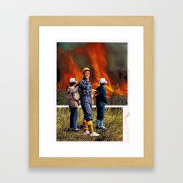 where there's smoke there's fire Framed Art Print