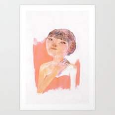 Cheveux en tresses Art Print