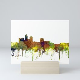 Des Moines, Iowa Skyline SG - Safari Buff Mini Art Print