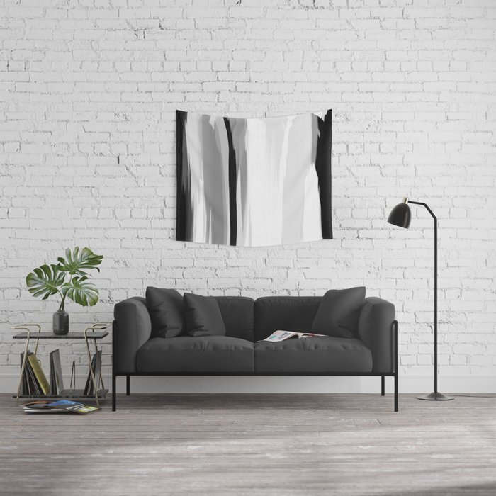 Soft Determination Black & White Wall Tapestry